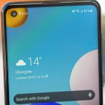 Samsung Galaxy A21s Front Camera View