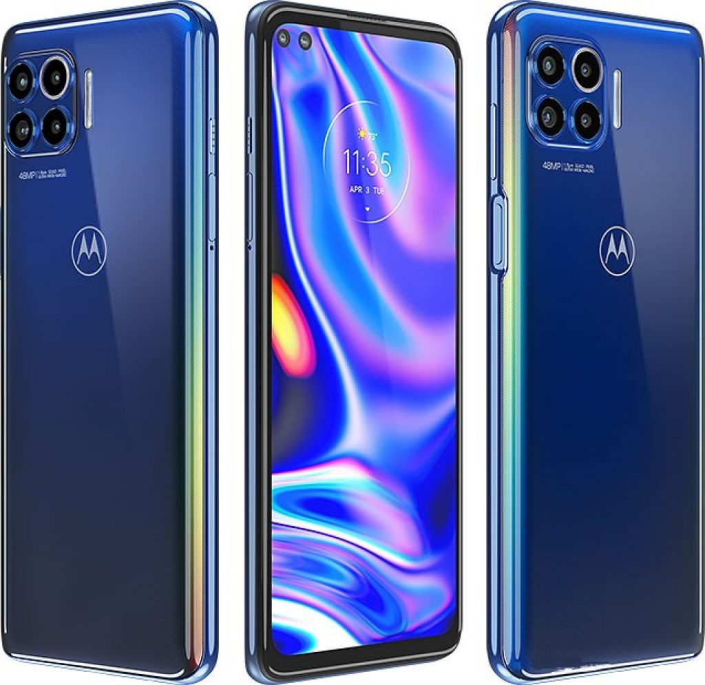 Motorola One 5G Front Back View